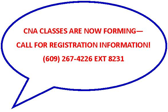 CNA Classes Now Forming